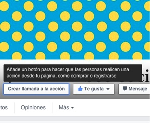 El nuevo botón de las páginas de facebook