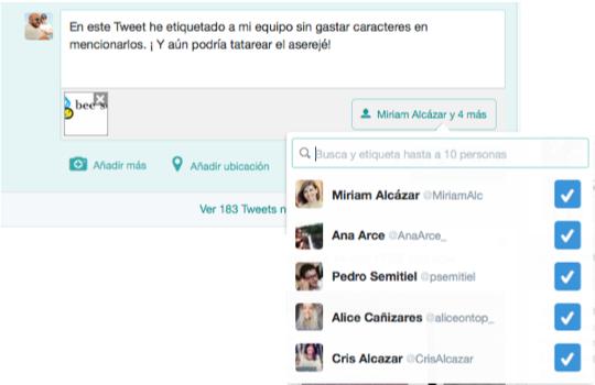 tweet etiquetar