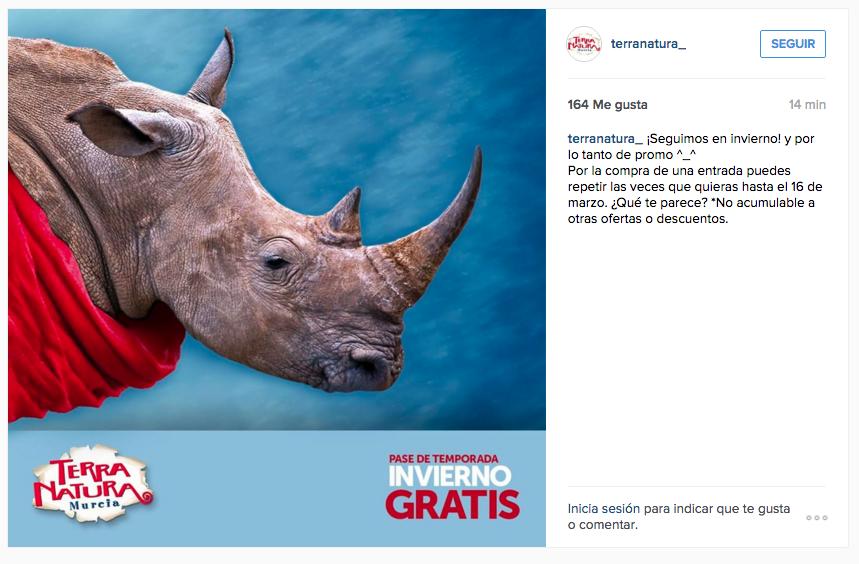 anuncio terra natura instagram