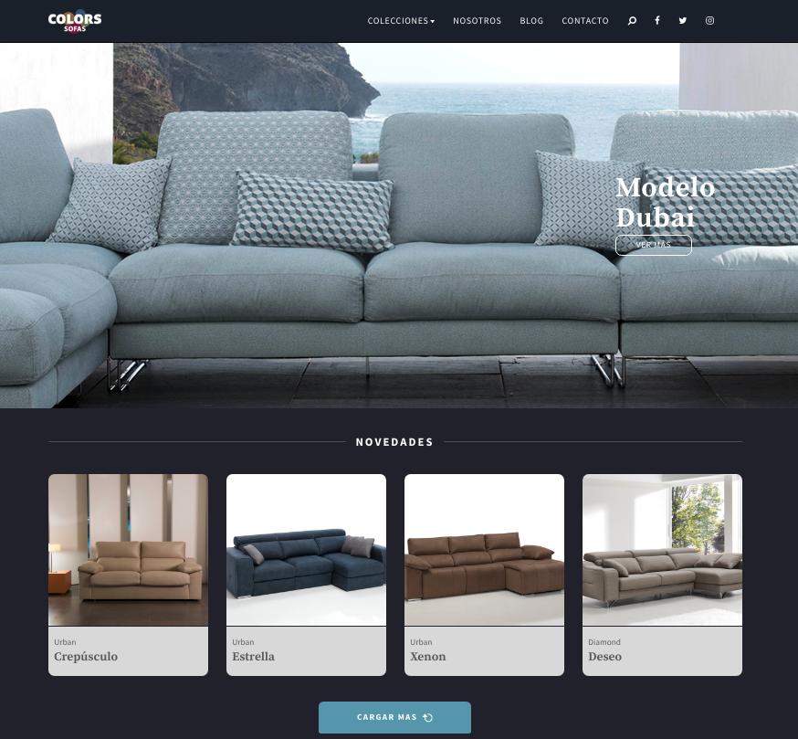 Nuevo proyecto WEB Colors Sofás