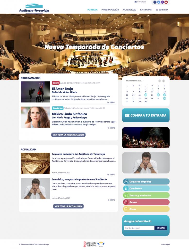Wordpress a Medida para el Auditorio de Torrevieja