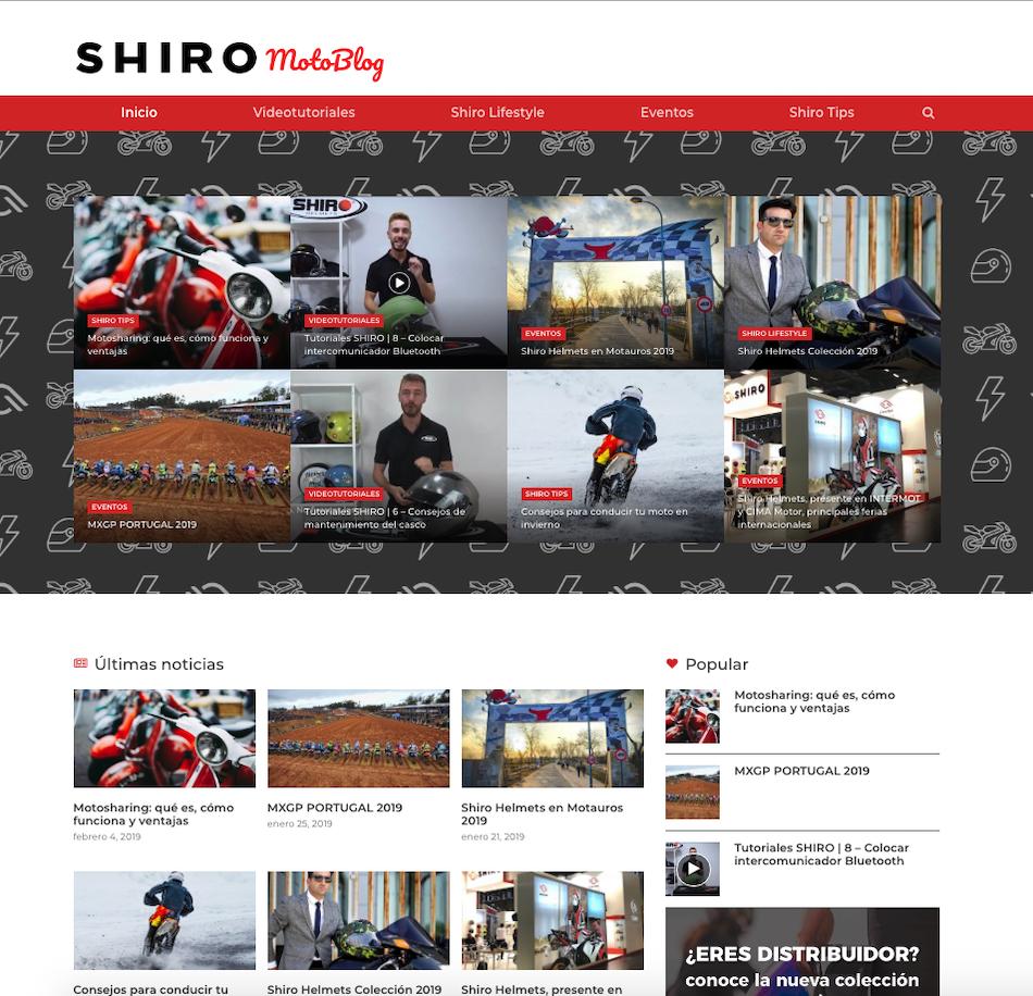 Shiro Helmets y su blog de contenido profesional