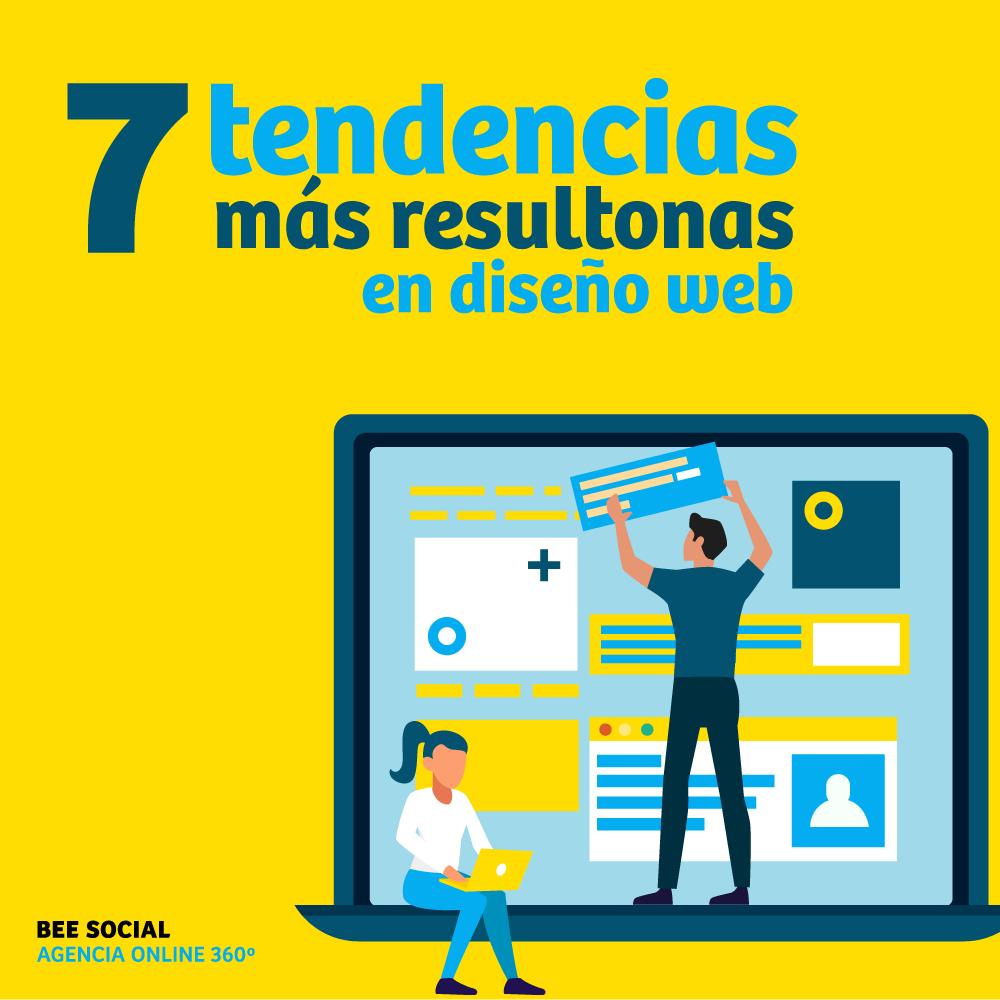 Las 7 tendencias en diseño web más resultonas